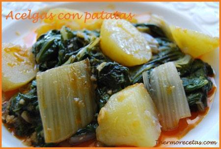 Acelgas con patatas receta ligera y sana for Cocinar acelgas