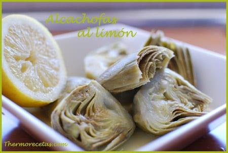Receta thermomix Alcachofas al limón
