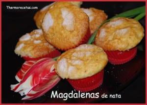 Receta Thermomix Magdalenas de Nata