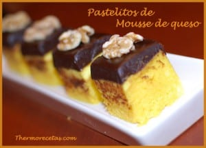 Receta thermomix pastelitos de mousse de queso