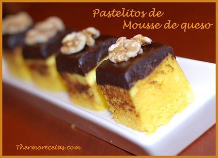 Receta thermomix pastelitos de mousse de queso
