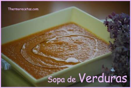 Receta facil thermomix sopa de verduras