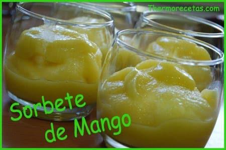 Receta fácil Thermomix Sorbete de Mango