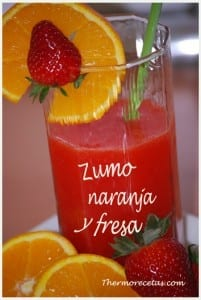 Receta thermomix zumo naranja y fresa