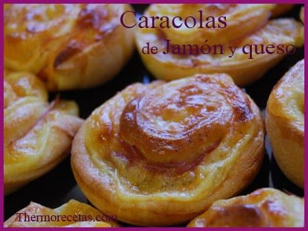 Receta Thermomix Caracolas de Jamón y Queso
