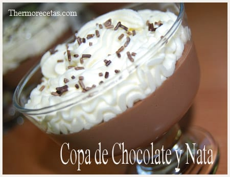 Receta Facil Thermomix Copa de Chocolate y Nata
