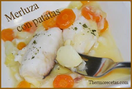 Receta Facil Thermomix Merluza con Patatas