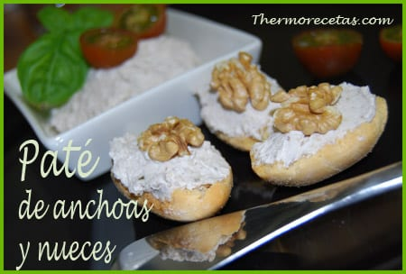 Receta Facil Thermomix Paté de anchoas y nueces
