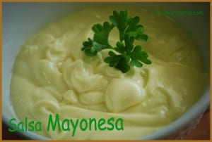 Receta fácil Thermomix salsa mayonesa