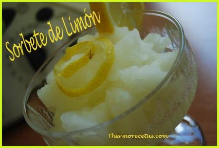 receta facil thermomix sorbete de limón