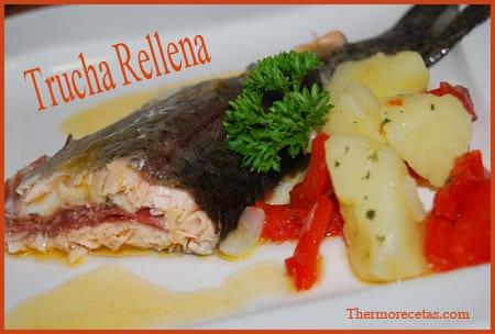 Receta Thermomix Trucha Rellena
