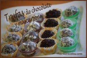 Receta fácil thermomix Trufas de chocolate y mascarpone