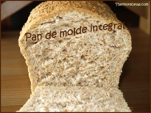 Pan de molde integral con Thermomix receta completa