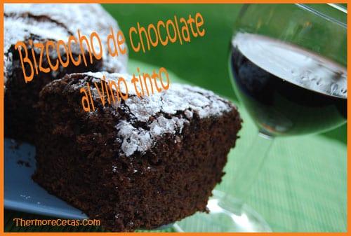 Receta Facil Thermomix Bizcocho de chocolate al vino tinto