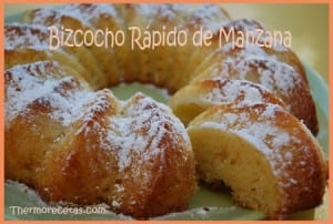 Receta Facil Postres Thermomix Bizcocho de Manzana