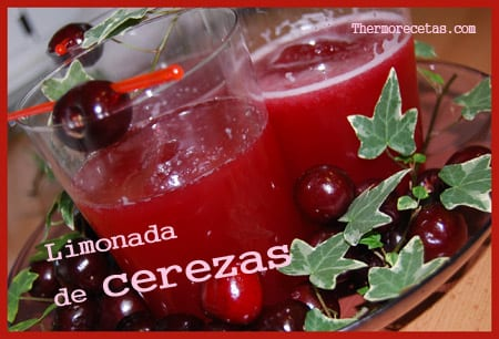Receta Facil Thermomix Limonada de cerezas