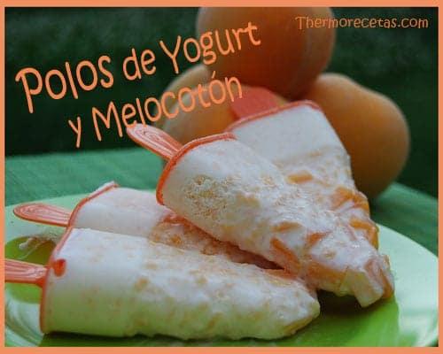 Receta Facil Polos de Yogurt y Melocotón