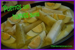 Receta Thermomix Puerros con Huevos Duros