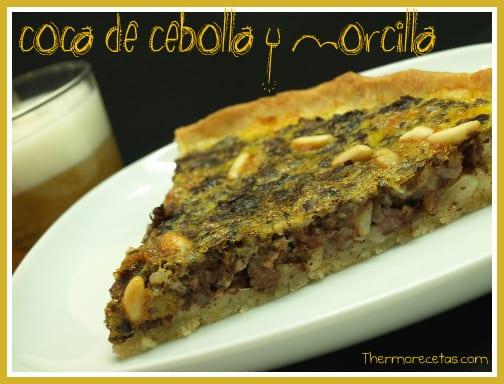 Coca de cebolla morcilla y pi ones recetas thermomix - Recetas merienda cena informal ...