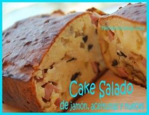 Receta Thermomix Cake Salado de jamón, aceitunas y nueces