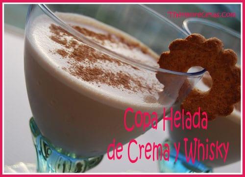 Receta facil Copa Helada de crema y whisky