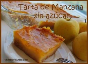 Receta Postres Thermomix Tarta de Manzana sin azúcar