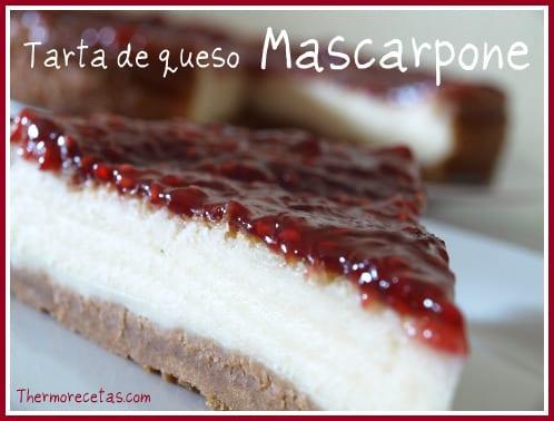 Tarta de queso mascarpone - Recetas Thermomix