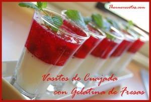 Receta Postre Thermomix Vasitos de Cuajada con gelatina de fresas