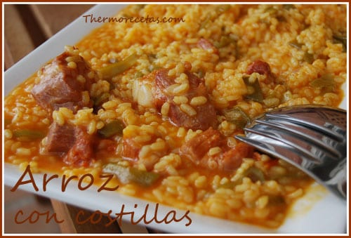 Receta Thermomix Arroz con costillas
