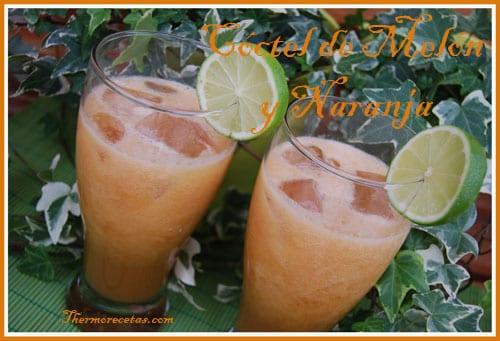 Receta Facil Thermomix Cóctel de melón y naranja