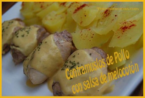 Receta Thermomix Contramuslos de pollo con salsa de melocotón