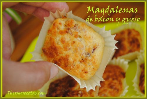 Receta Thermomix Magdalenas de Bacon y Queso