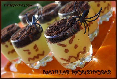 Receta Thermomix Halloween Natillas monstruosas