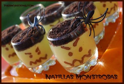 Receta Thermomix Halloween Natillas monstruosas