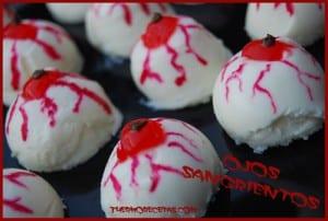 Receta thermomix Halloween Ojos Sangrientos