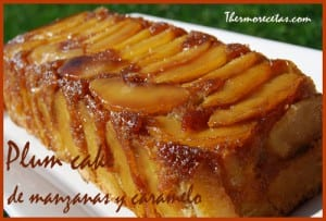 Receta Postre Thermomix Plum Cake de Manzana y caramelo