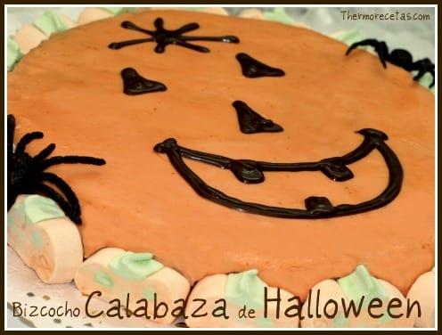 bizcocho calabaza halloween Bizcocho Calabaza de Halloween