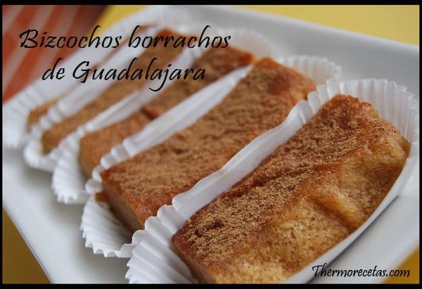 Receta Postres Bizcochos Borrachos de Guadalajara