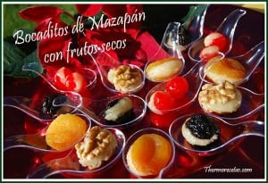 Receta Thermomix Navidad Bocaditos de mazapán con frutos secos