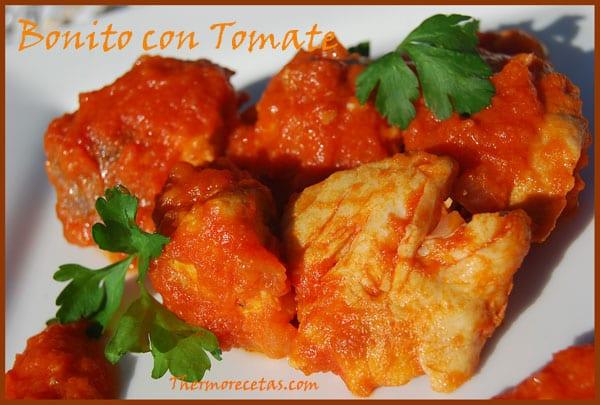 Receta Thermomix Bonito con Tomate