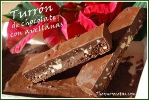 Receta Thermomix Navidad Turrón de chocolate con avellanas