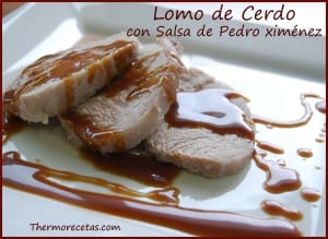 Receta Thermomix Lomo de Cerdo a la sal con Salsa de Pedro Ximénez