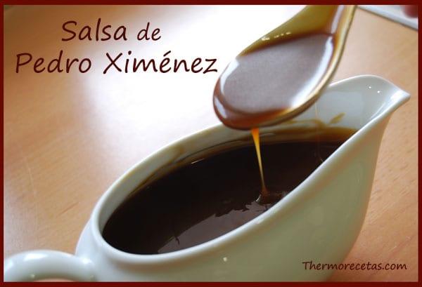 Receta Thermomix Navida Salsa de Pedro Ximénez