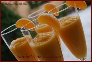 REceta thermomix sorbete de mandarina