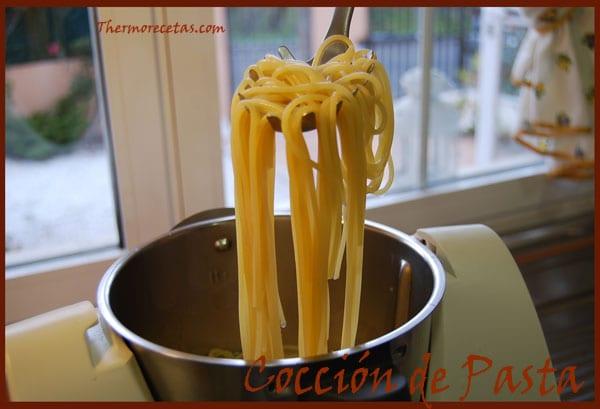 REceta thermomix cocción de pasta