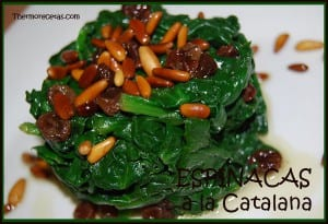 receta thermomix espinacas a la catalana