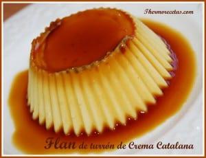 Receta Postres thermomix flan de turron de crema catalana