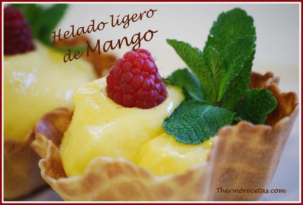 Receta thermomix helado ligero de mango