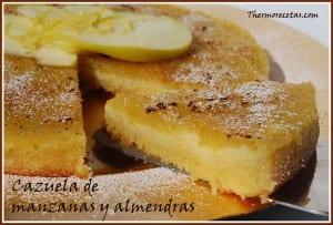 Receta Postres Thermomix Cazuela de manzanas y almendras