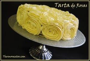 Receta Postres thermomix tarta de rosas